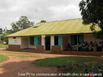 Solar energy at a health clinic in rural Uganda
